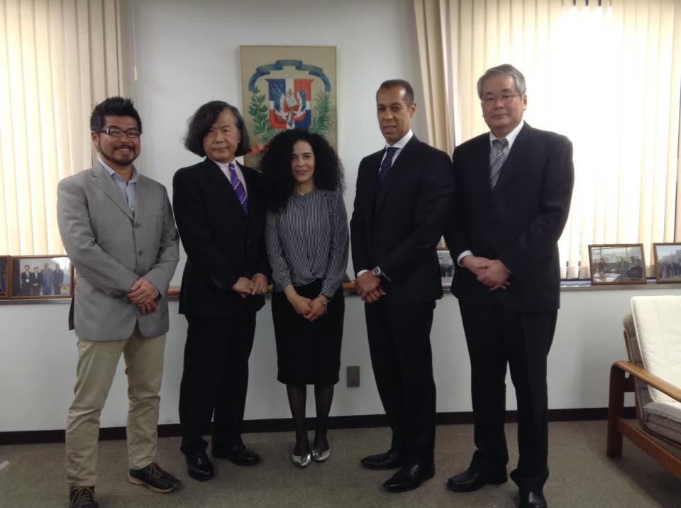 大分大学医学部森教授ご一行が、在京ドミニカ共和国大使館を表敬訪問されました