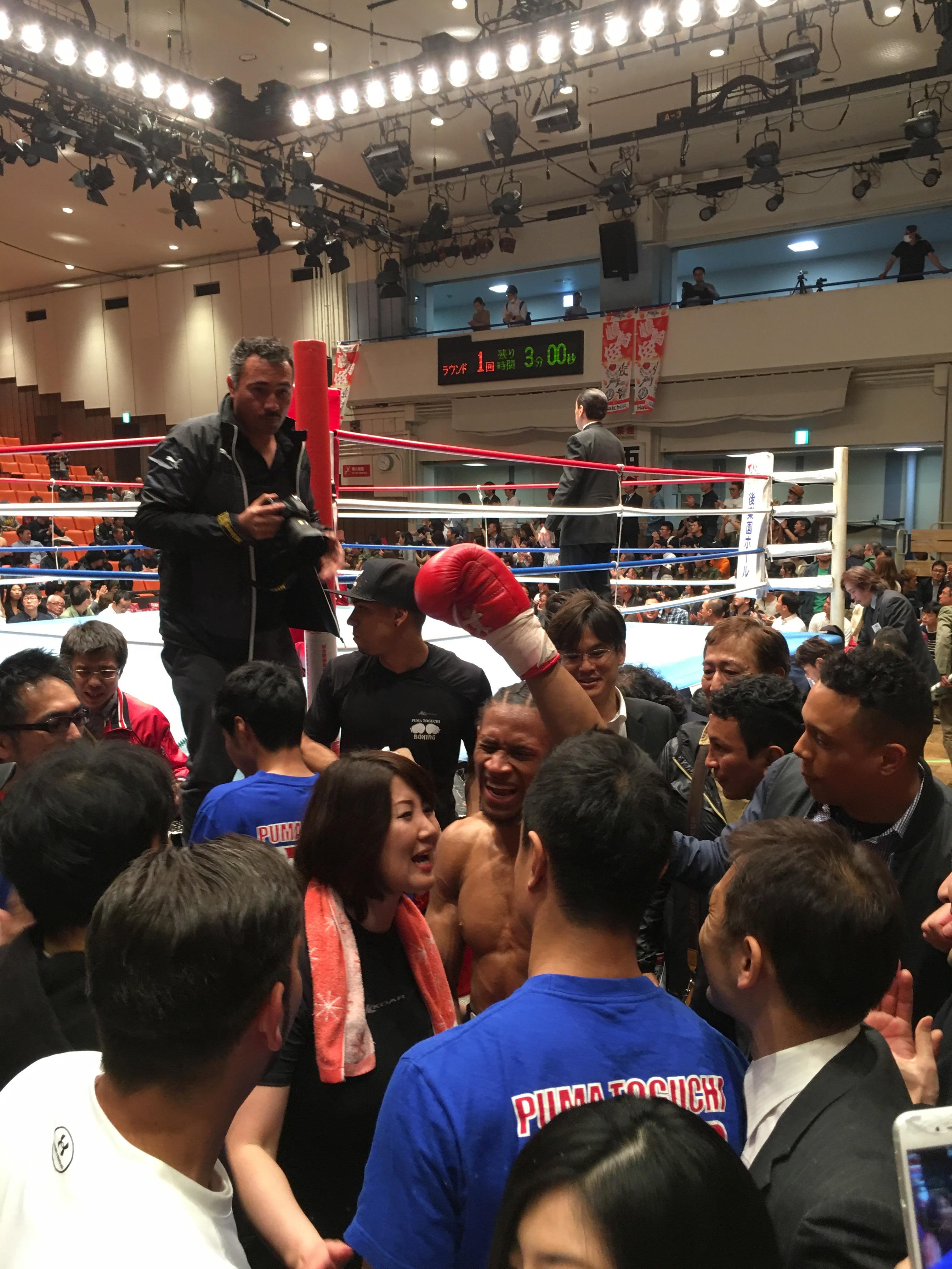 ブラディミール・バエス選手が日本デビュー戦で勝利!(¡Bladimir Baez ganó su primera pelea en Japón!)