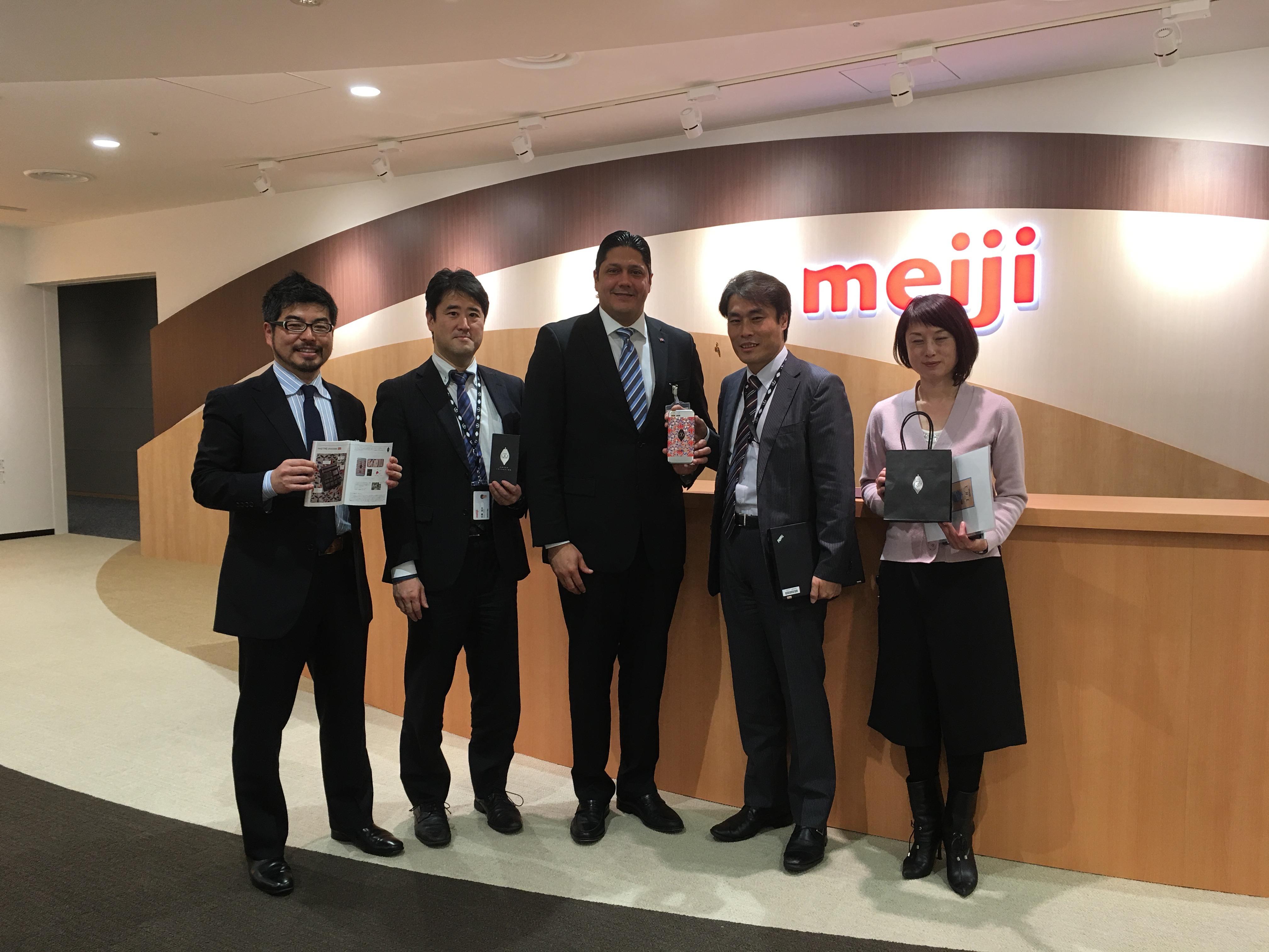 明治・菓子マーケティング部訪問 (Visita al departamento de marketing, Meiji)