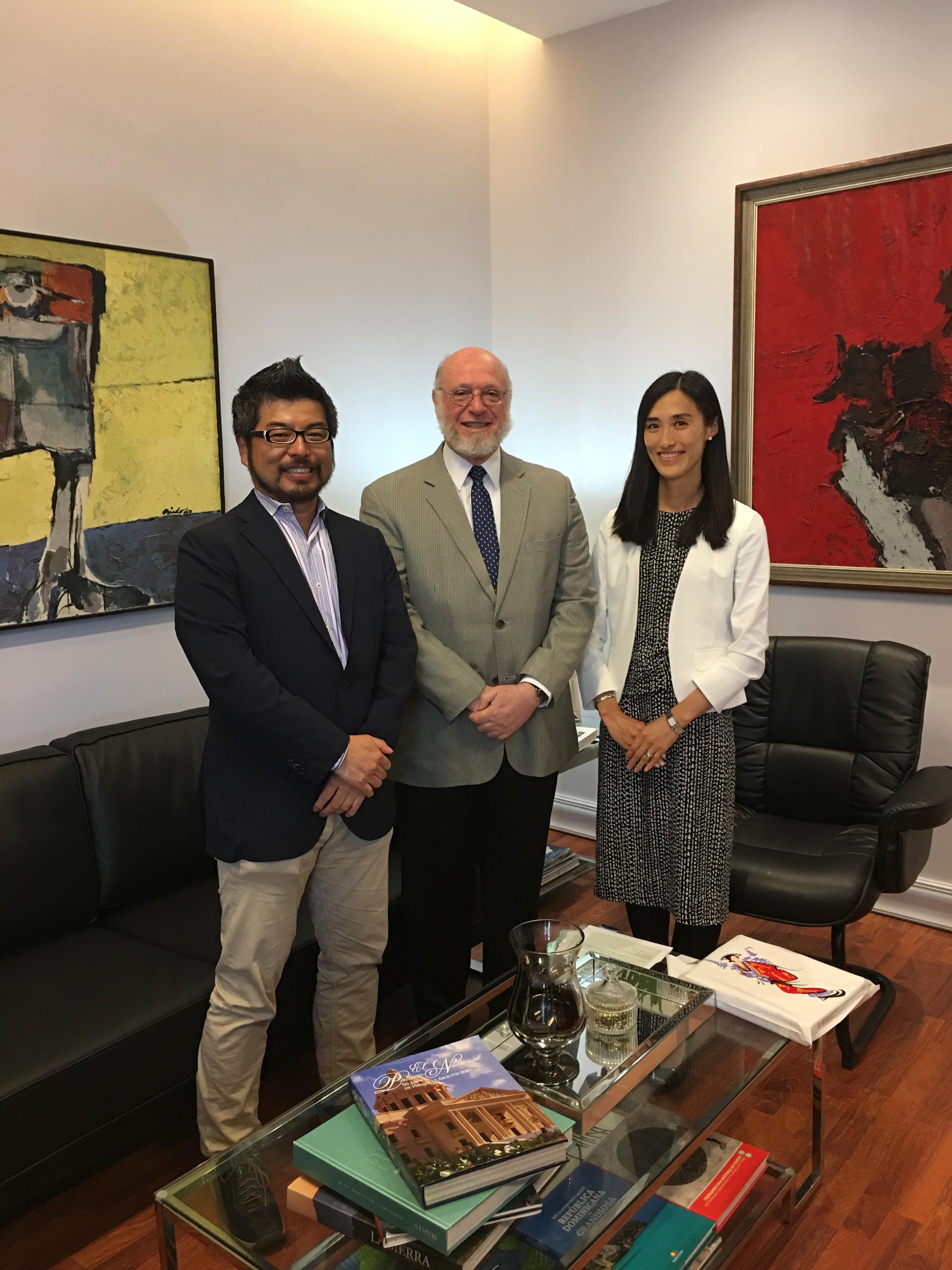 ペドロ・ベルヘス文化大臣との面会(Encuentro con el Dr. Pedro Vergés, el Ministro de la Cultura)